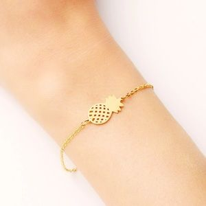 Jewelry - Gold and Silver Stainless Steel Pineapple Bracelet